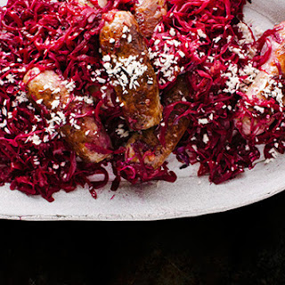 Bratwurst and Red Cabbage