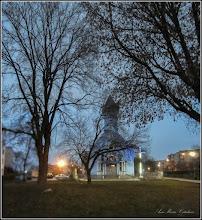 Photo: Calea Victoriei - spatiu verde - Mr.1, in zori de zi - 2018.01.12