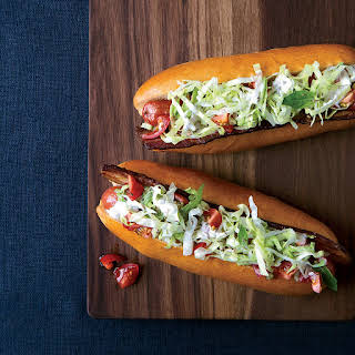 BLT Hot Dogs with Caraway Remoulade.