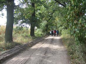 Photo: Wyruszyliśmy z Lubosza piękną trasą wśród wczesnojesiennych pól krużgankami z zielonych jeszcze gałęzi drzew.