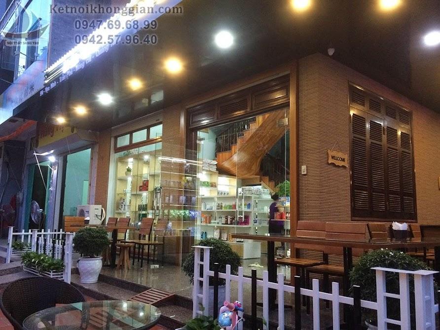thi công cửa hàng tạp hóa kết hợp quán cafe