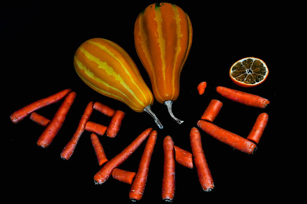 taronja, pastanaga i carbassa di kaos