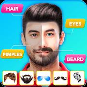 Man Hair Style: Beard Style, Mustache Photo Editor