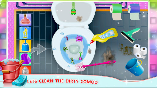 Elsa Home Cleaning Gamesu2013 Garage Dust Clean Up- apktram screenshots 2