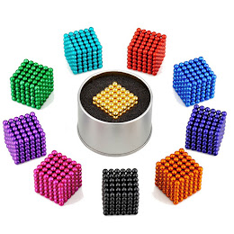 Bile magnetice Neocube antistres, 5 mm, 216 piese