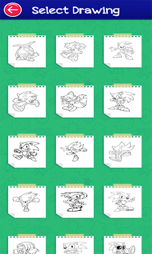 Hedgehogs Supersoni's coloring Book modavailable screenshots 2