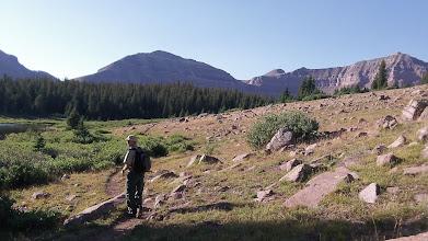 Photo: Brian heading to Gunsight Pass