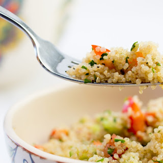 Fresh veggies and Quinoa Salad (version anglaise).