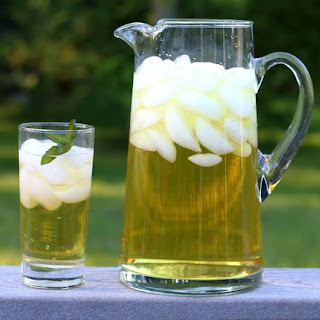 Iced Apple Peppermint Tea.
