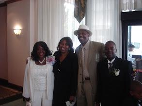 Photo: Mommy, Linda, uncle Leonard, and Rashid