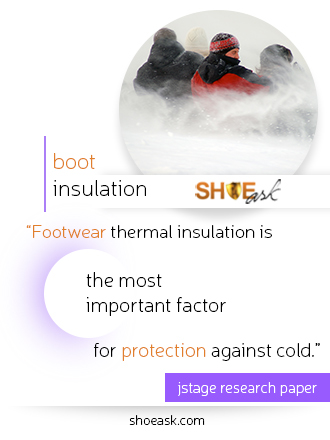 Thermal insulation in boots is the most important factor for protection against cold.