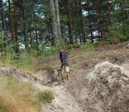 Photo: Ayla trener rundering på Evje, 6 mnd