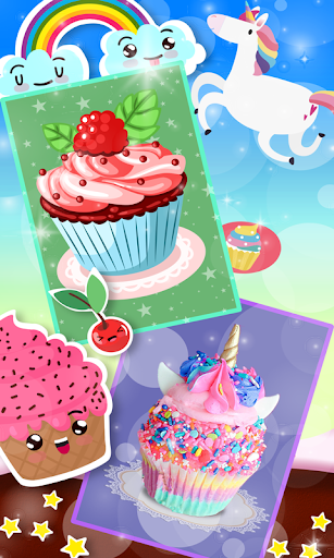 Unicorn Rainbow Cup Cake - Kids Cooking Game image | 5