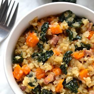 Celeriac Risotto with Butternut Squash & Kale Recipe