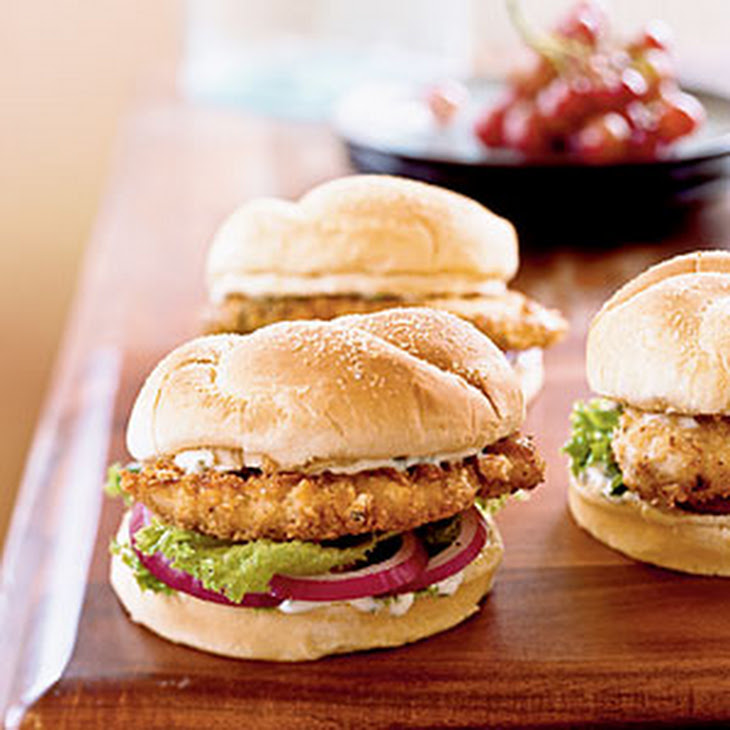 Spicy Chicken Sandwiches with Cilantro-Lime Mayo Recipe