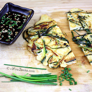 Pajeon (Korean Zucchini Scallion Pancakes)