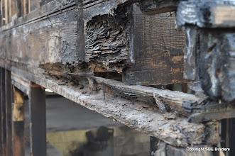 Photo: Termite damaged wall plates and joist rim.