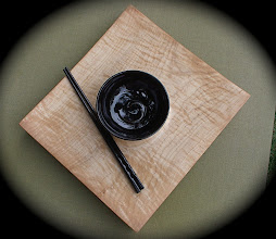 Photo: curly maple sushi plate