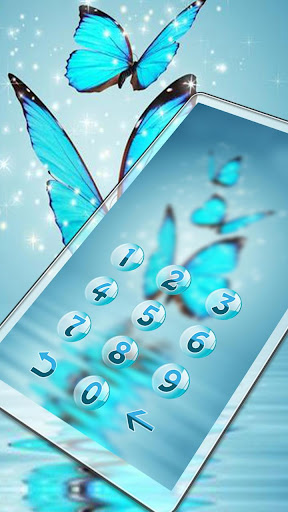 Butterfly blue gleam theme 1.1.3 screenshots 2