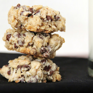 Coconut Chocolate Chip Oatmeal Cookies.