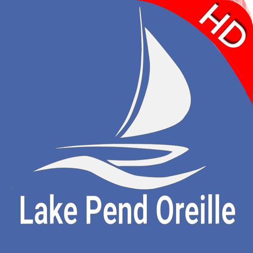 Lake Pend Oreille Idaho Offline GPS Fishing Charts