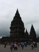Photo: Prambanan temple compound, with local tourists