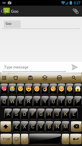 Gloss GoldBlack Emoji Keyboard