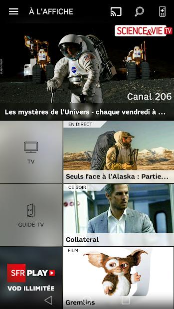 SFR TV Android App Screenshot