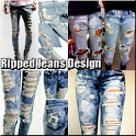 Ripped Jeans Design icon