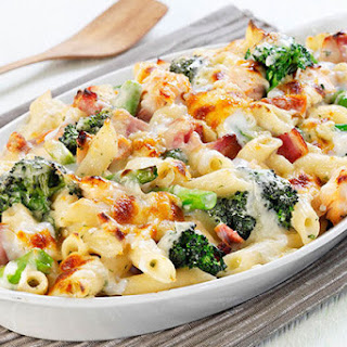Cheesy Ham & Broccoli Pasta Bake