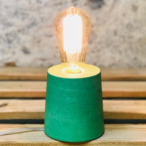 lampe béton vert design fait-main création made in france Junny