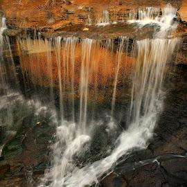 NOVEMBER FALLS AT LAKE ANN by Dana Johnson - Landscapes Waterscapes ( waterfalls, autumn, waterscape, cascade, creek, falls, landscape )