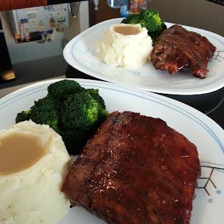 Slow Roasted BBQ Ribs.
