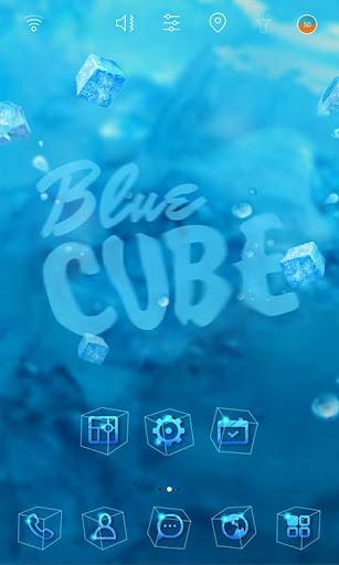 Blue Cube launcher theme