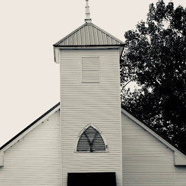 Old country church  by Anita Crisp - Black & White Buildings & Architecture ( church building )