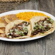 (2) Asada Tacos Plate