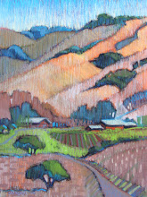 Photo: Antioch Backcountry, pastel by Nancy Roberts, copyright 2014. Private collection.