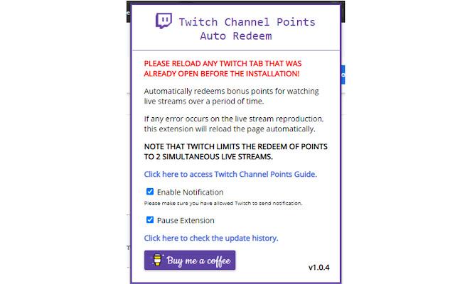 Twitch Channel Points Auto Redeem