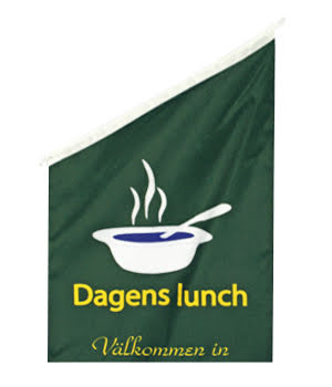 Lunch Fasadflagga 60x40cm tyg