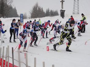 Photo: je odstartován skiatlon na 2x5 km