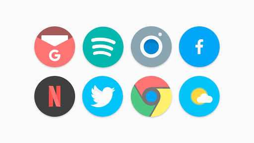 Screenshot for Flat Pie - Icon Pack in United States Play Store