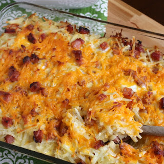 Hashbrown Casserole with Ham.