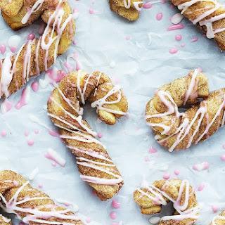 Cinnamon Sugar Candy Cane Bread Twists