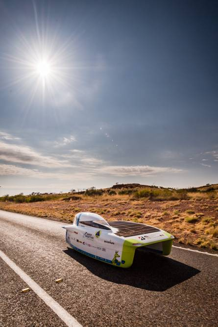 The Belgian Solar team is getting closer to the fourth place