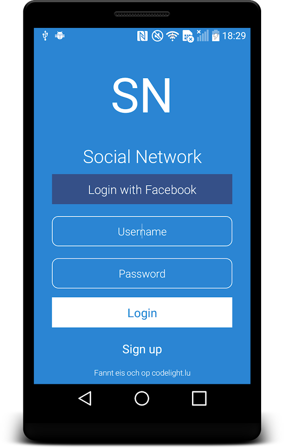 Social Network- screenshot