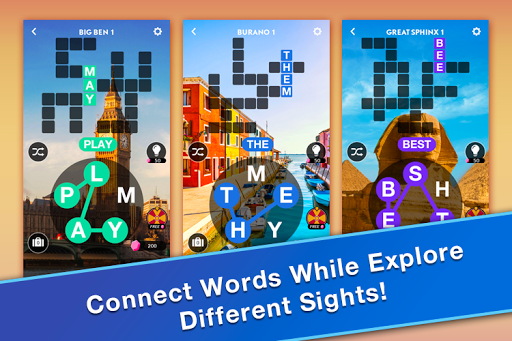 word travel word connect puzzle game app report on mobile action