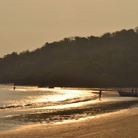 by Harshit Bansal - Landscapes Beaches ( goa, sunset, sea, beach, natural )
