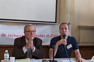 Photo: Conférence « La laïcité au miroir de l'Europe » par : Jean-Paul Willaime, directeur d'études à l'EPHE (débat animé par Frédéric Sève, secrétaire général du Sgen-CFDT)