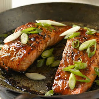Glazed Salmon Fillets.