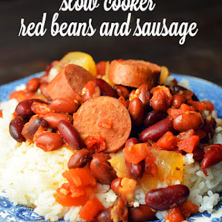 Slow Cooker Red Beans and Sausage.